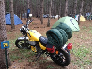 Electric Motorcycle Camping