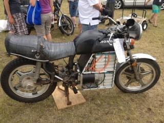 Ryland's lithium battery, driveshaft powered electric cycle