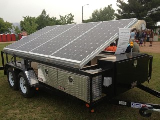 Solar trailer built by Waukesha Tech College