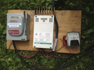 Disconnect, Charge Controller, and Volt-Meter