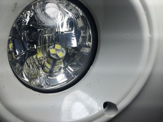 LED bulb as seen through the front.