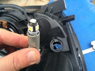 LED bulb for parking light.