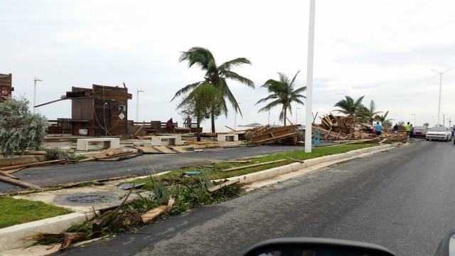 Hurricane damage.