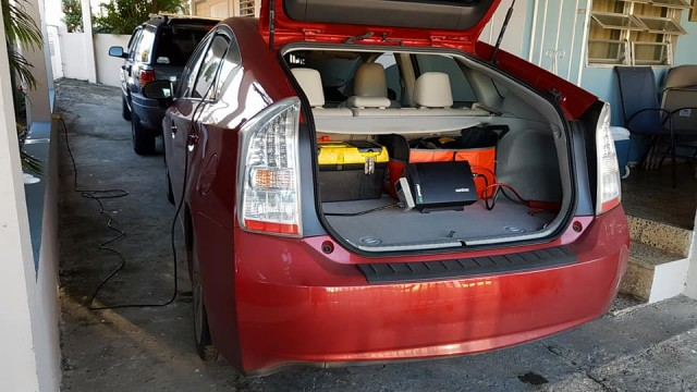 1,000 watt inverter in a Prius